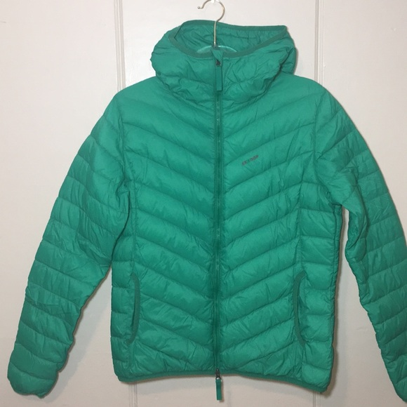 Skhoop Jackets & Blazers - Skhoop Green Down Jacket With Two-Way Zipper Sz L